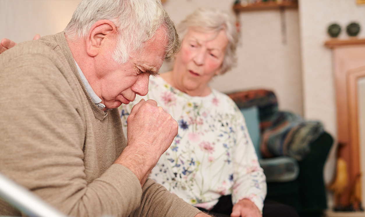 old couple with cough